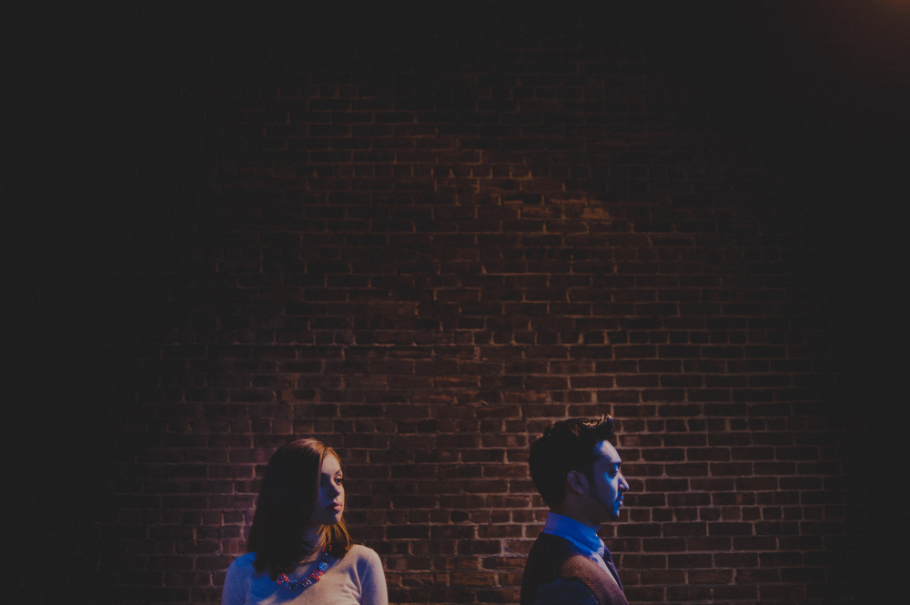 edgy nyc engagement photography