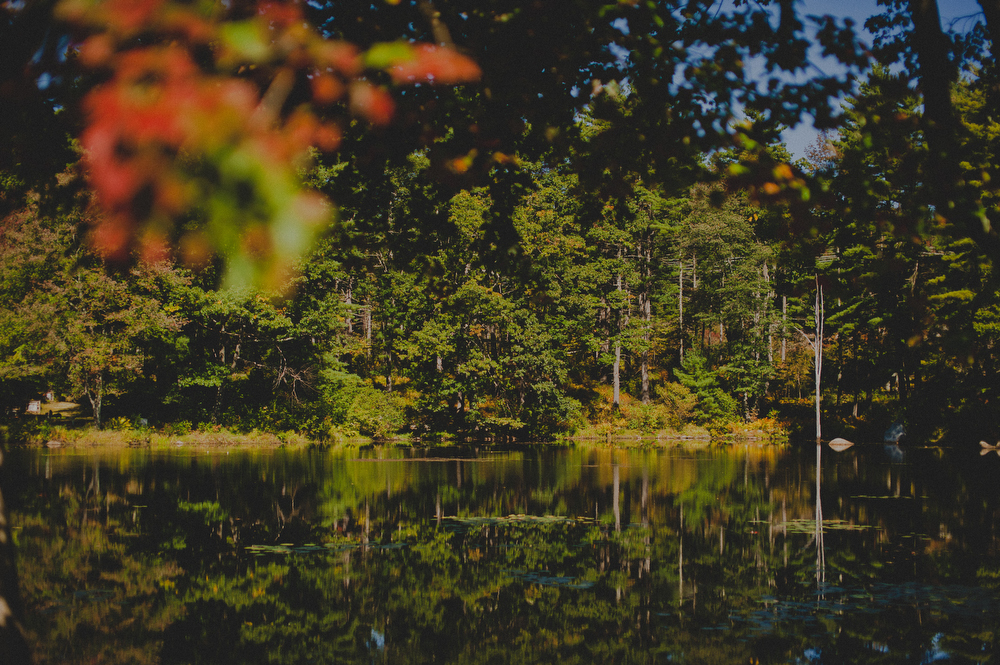 new england wedding in autumn