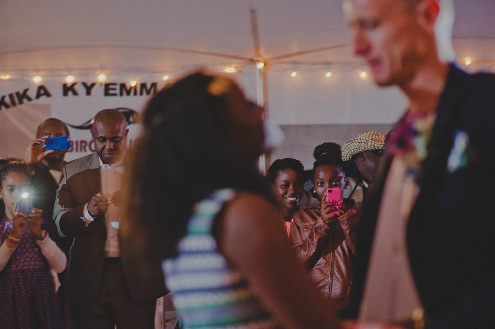 fall tented wedding reception