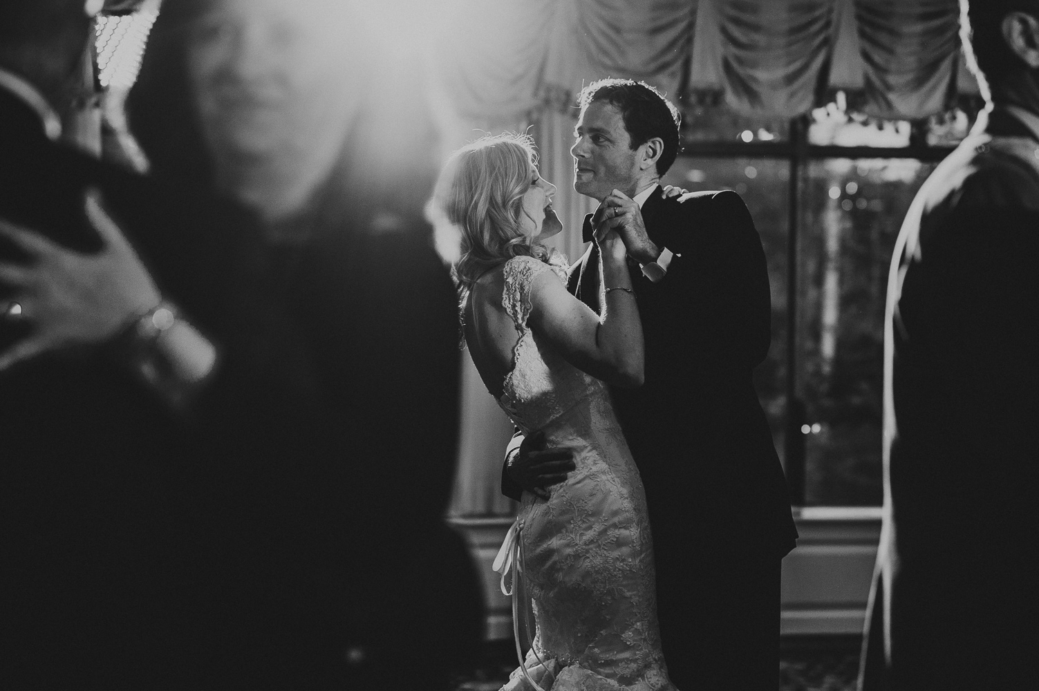 creative black and white wedding images