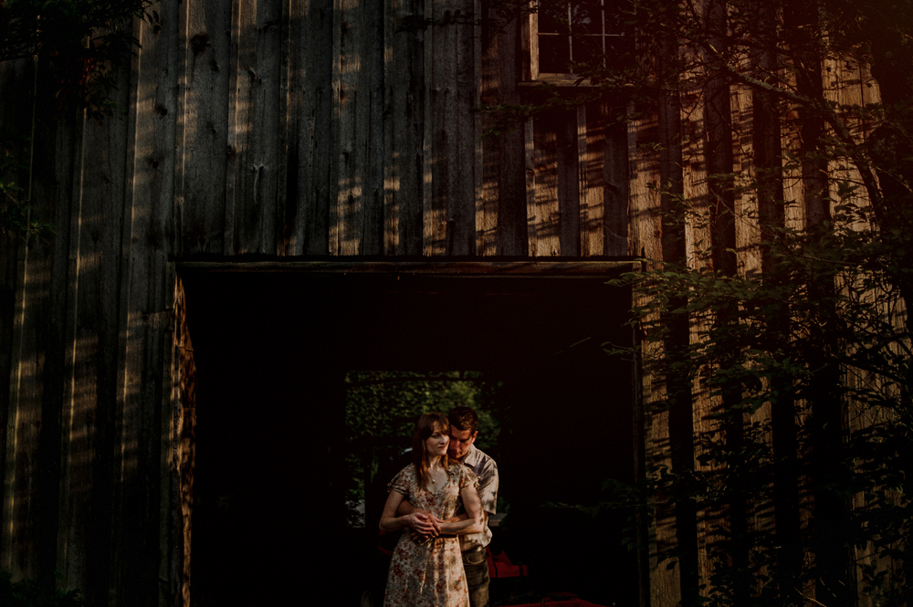nj barn engagement session
