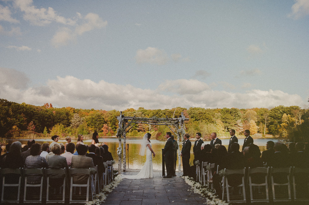 NJ outdoor fall wedding