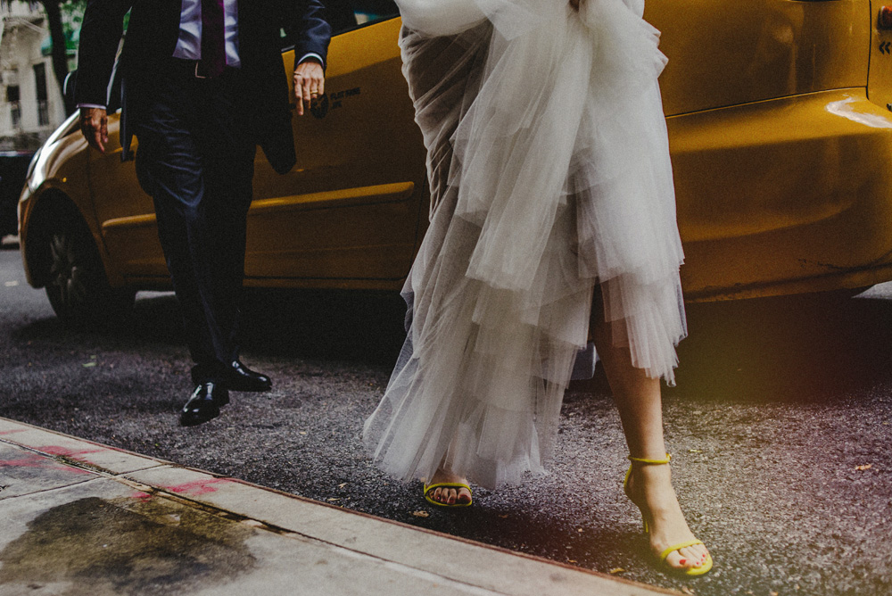 nyc cocktail-style wedding