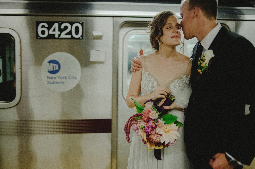 nyc subway wedding