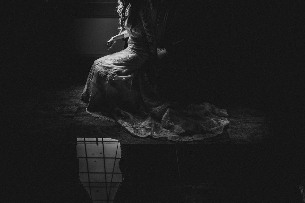 fine art black and white wedding photography