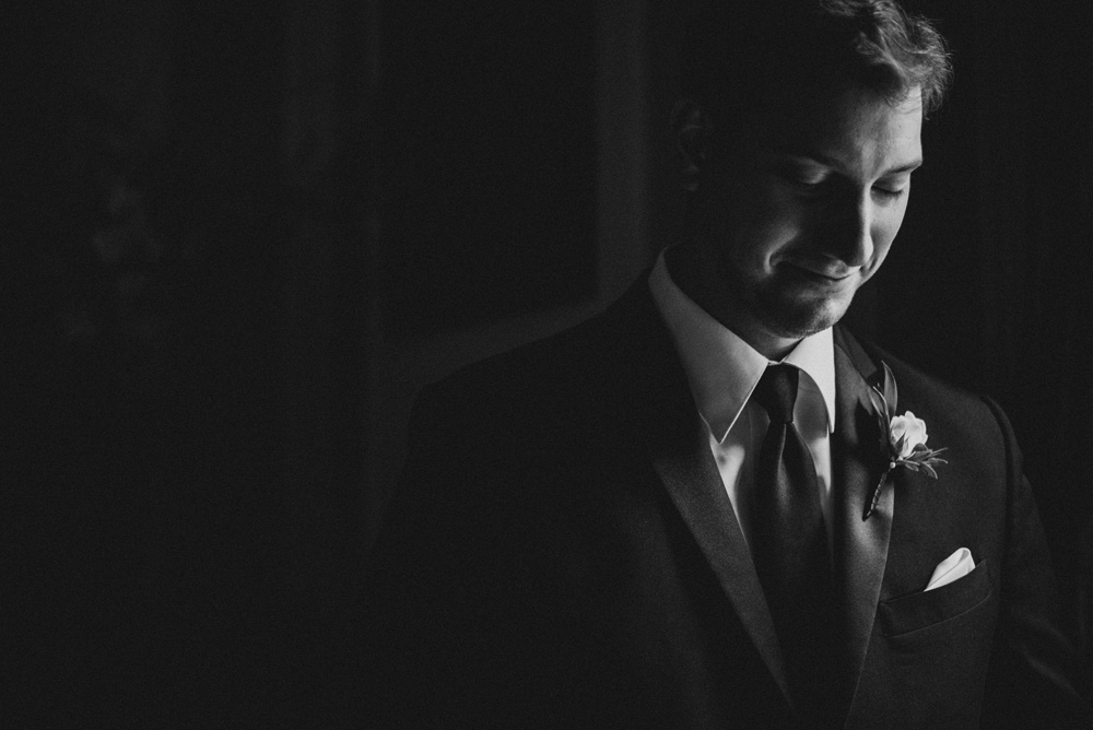 fine art black and white wedding photographer