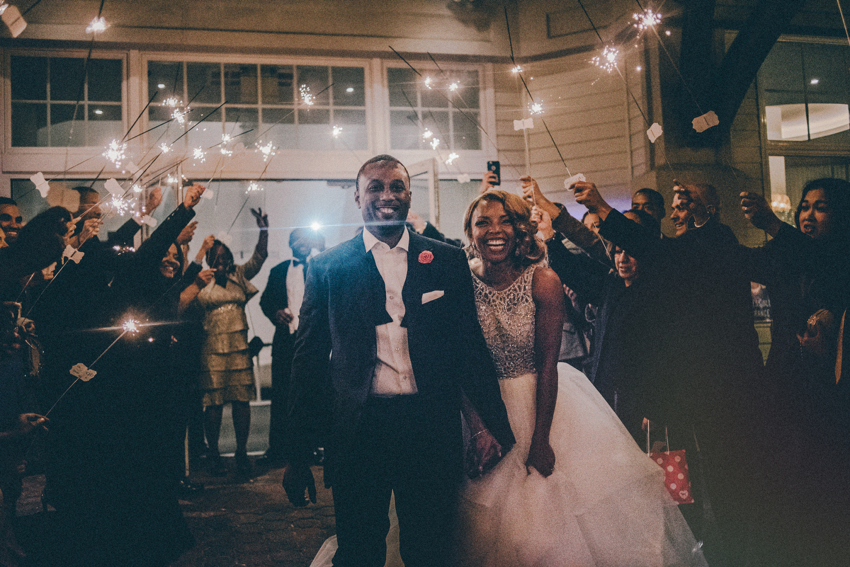nj wedding sparkler photos