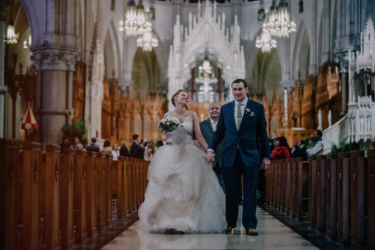 newark basilica wedding ceremony