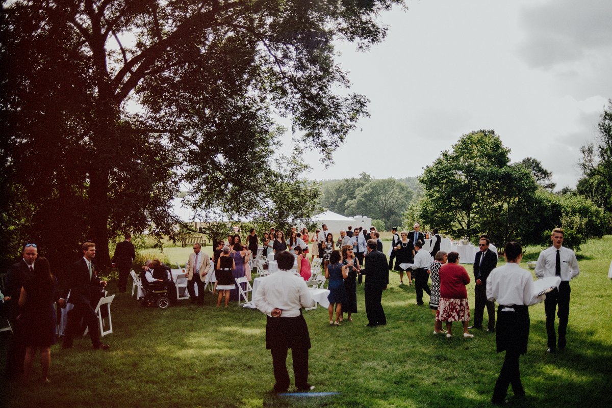 nj wedding in a field