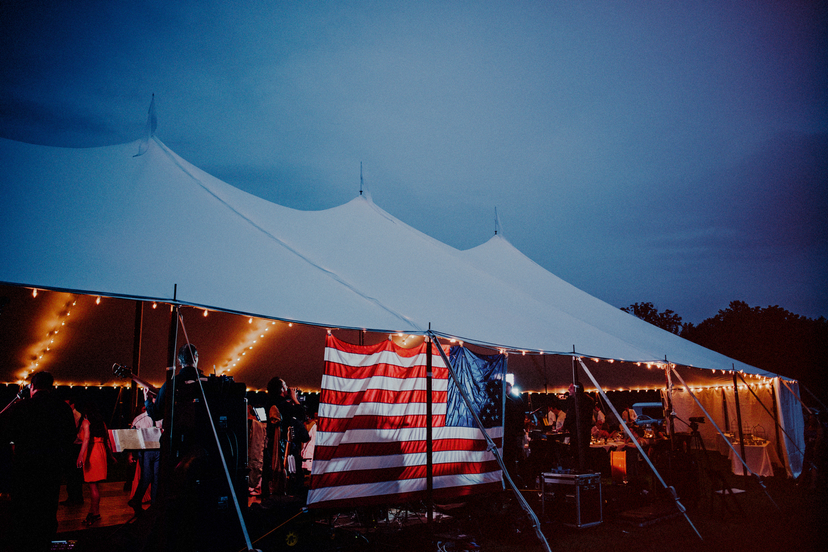 tented wedding reception photos