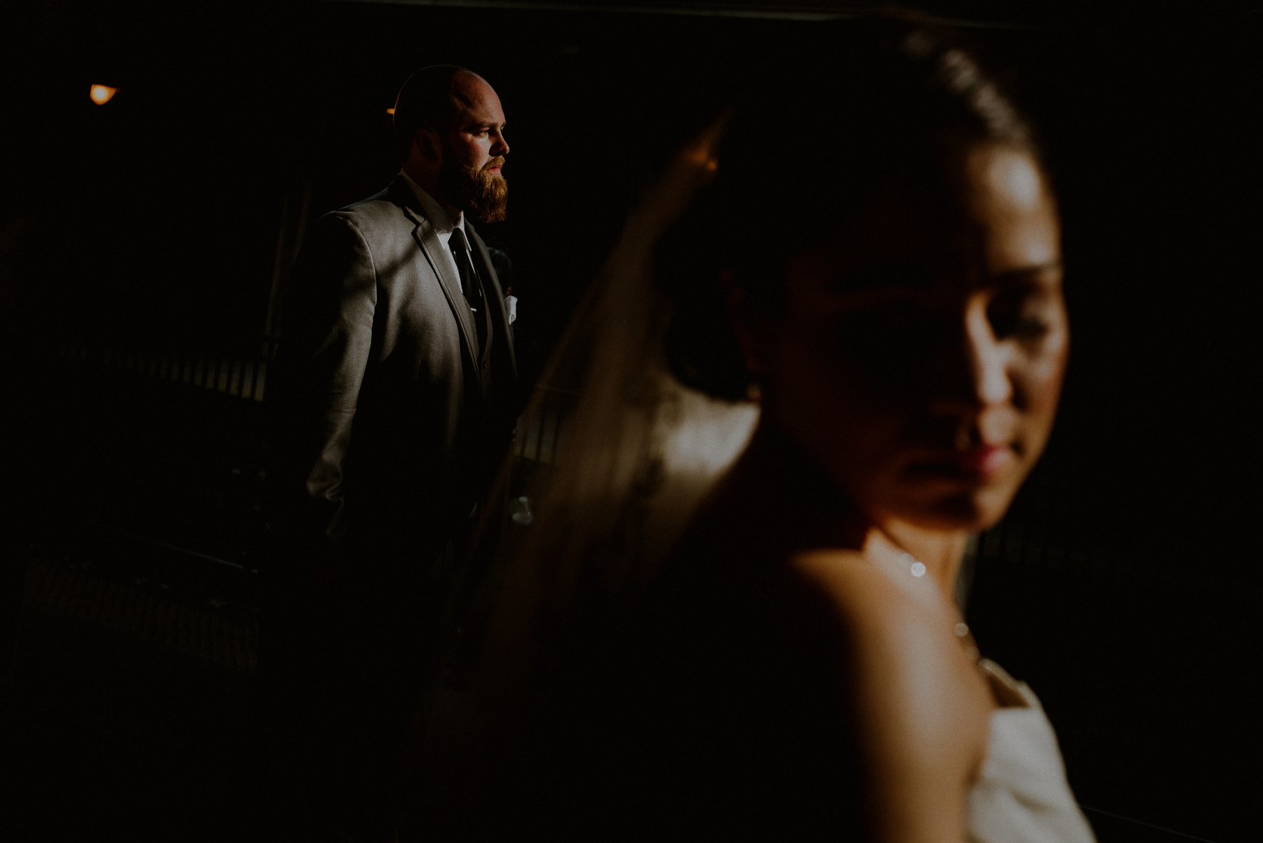 dramatic wedding portraits