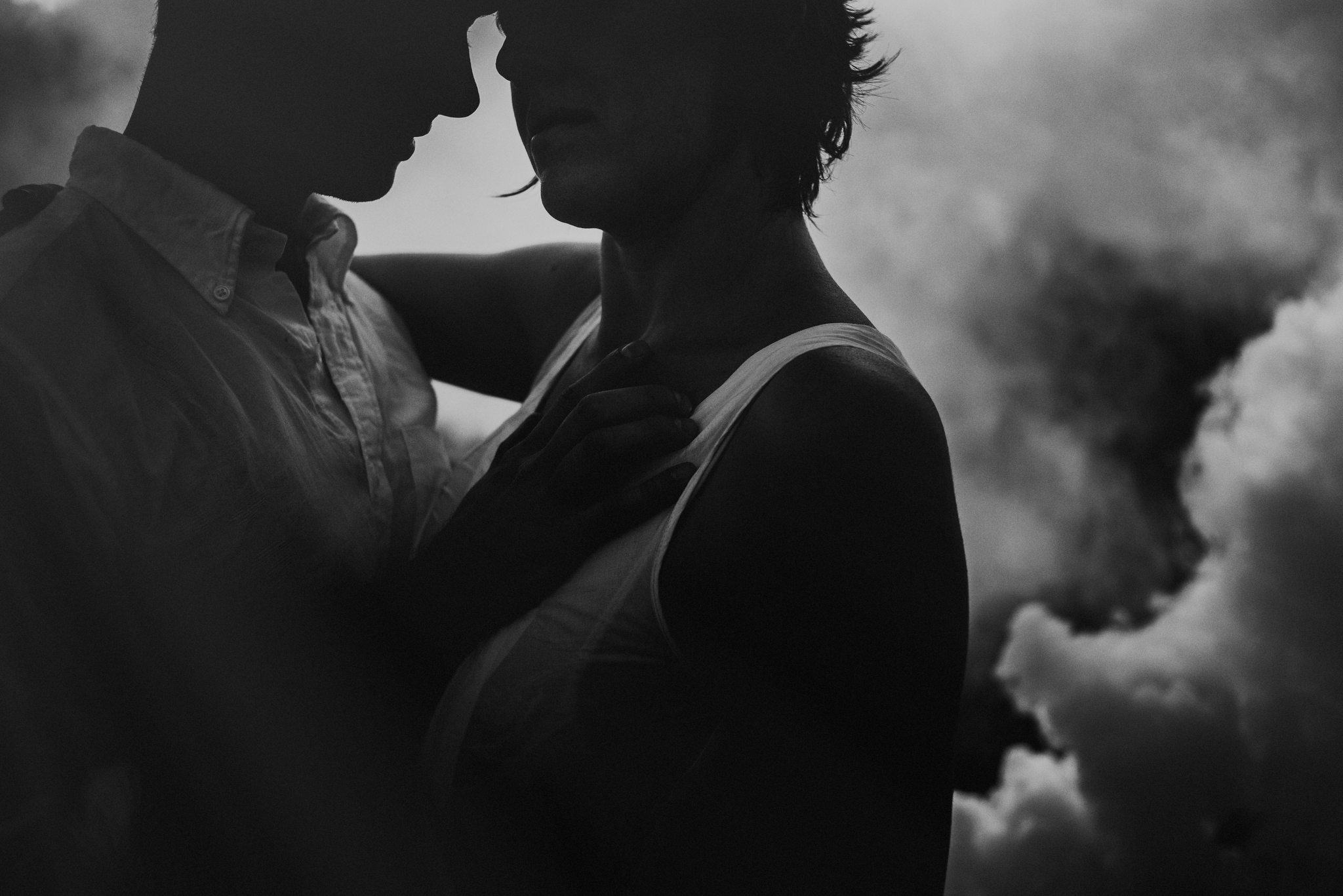 dramatic engagement pictures