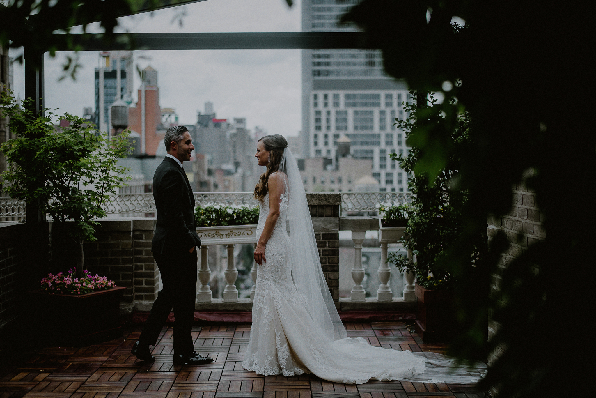 midtown loft and terrace wedding