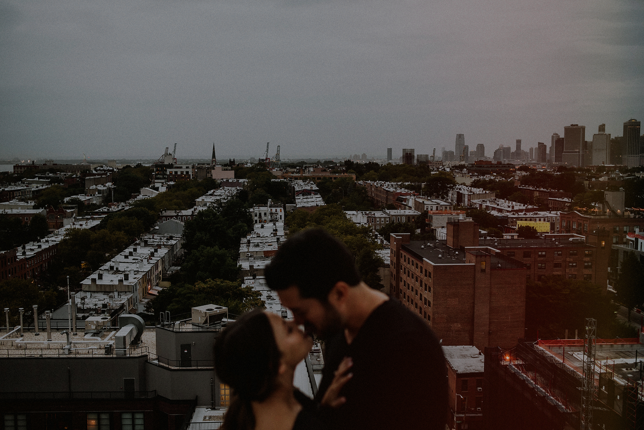 rooftop engagement photos