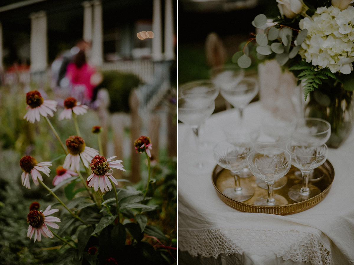 intimate front porch wedding