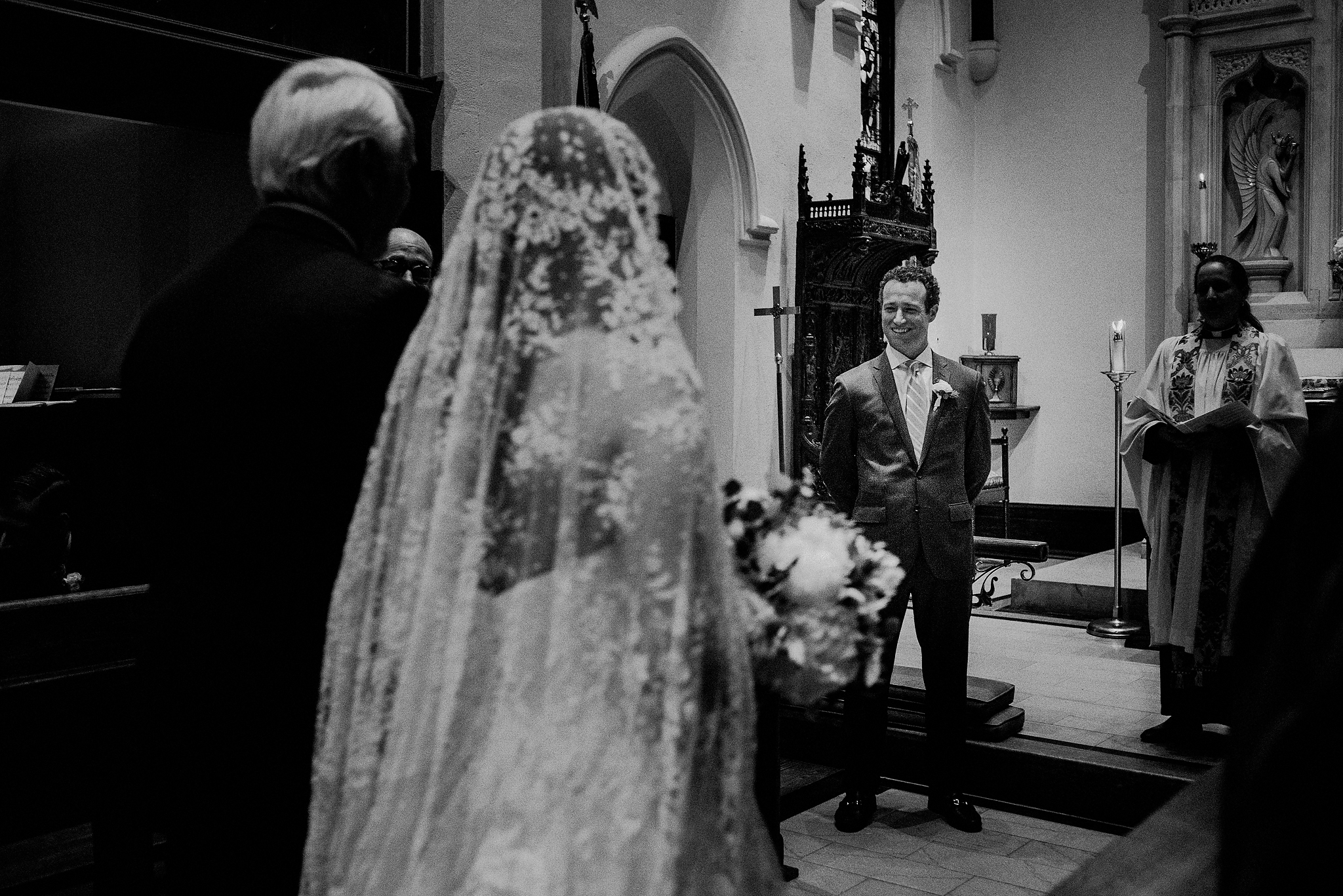 St Bernards church wedding photos