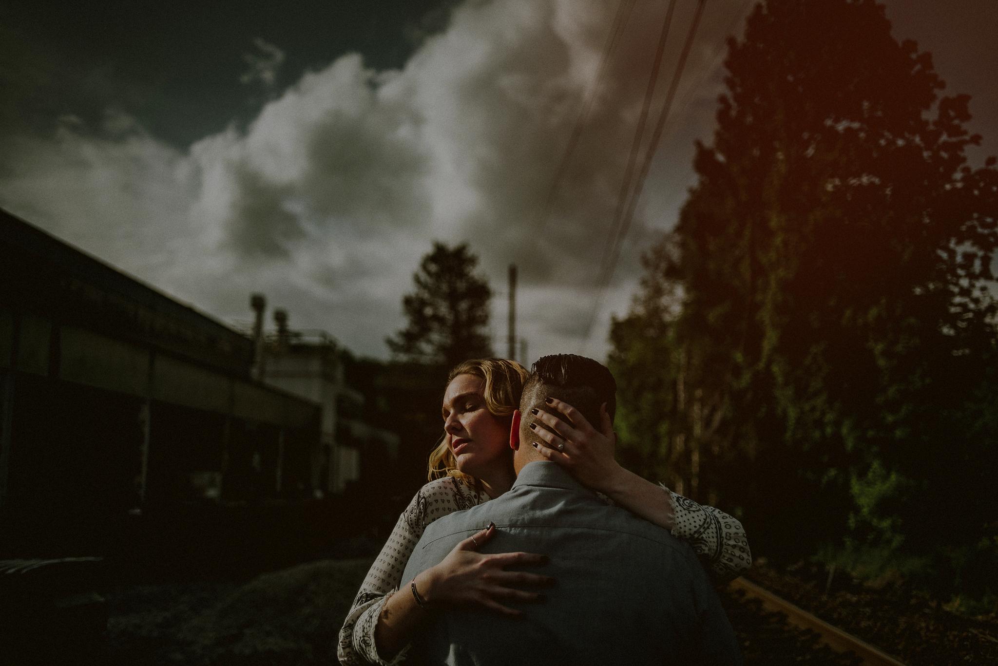 couple in harsh light