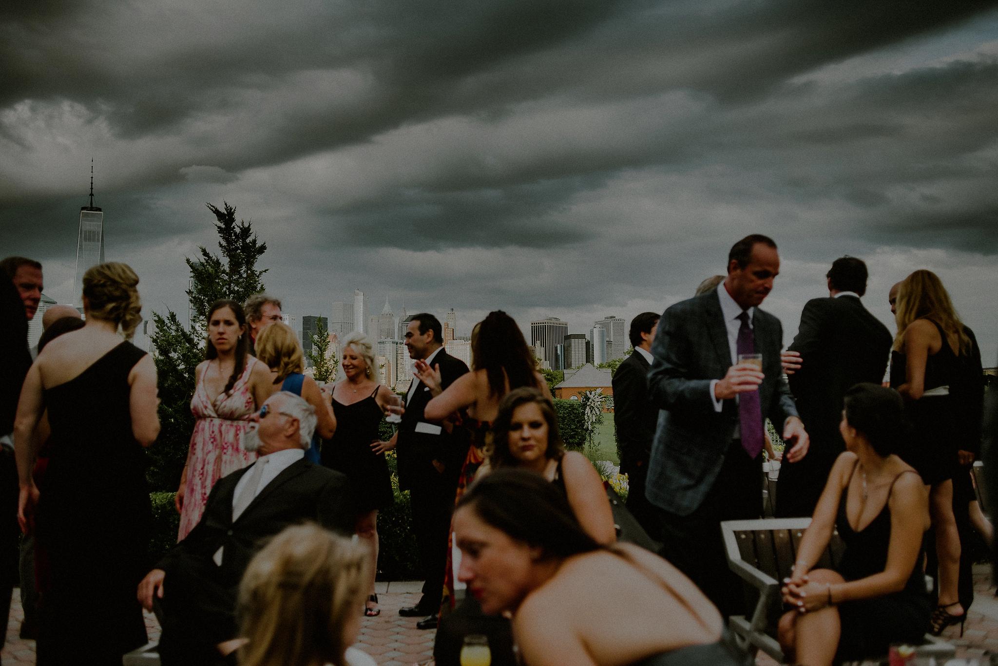scenic nyc skyline wedding