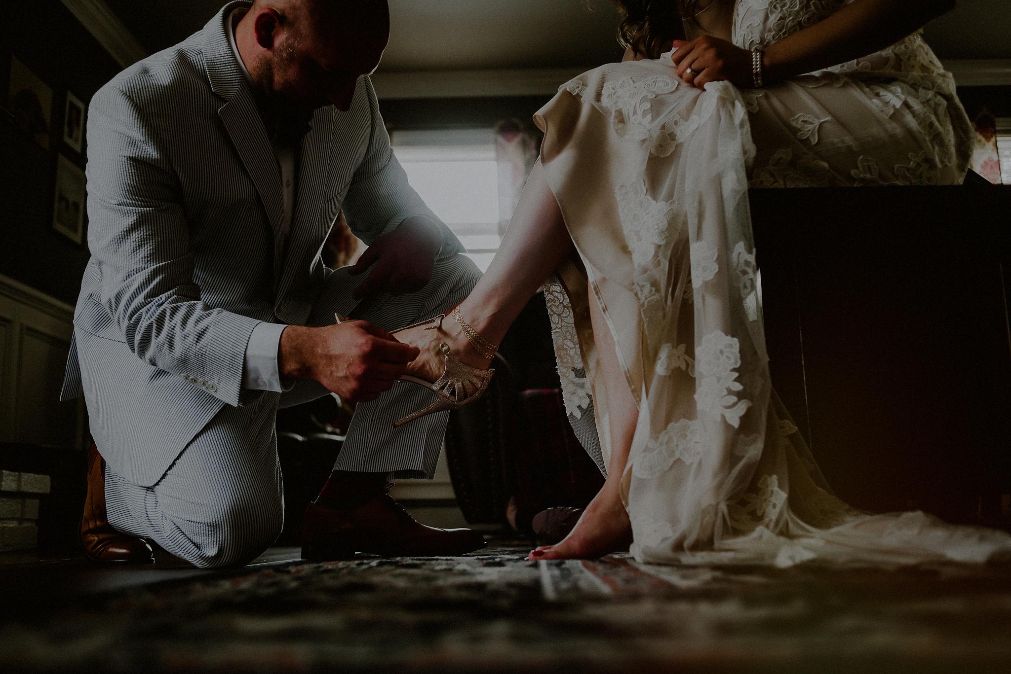 casual bride groom reveal