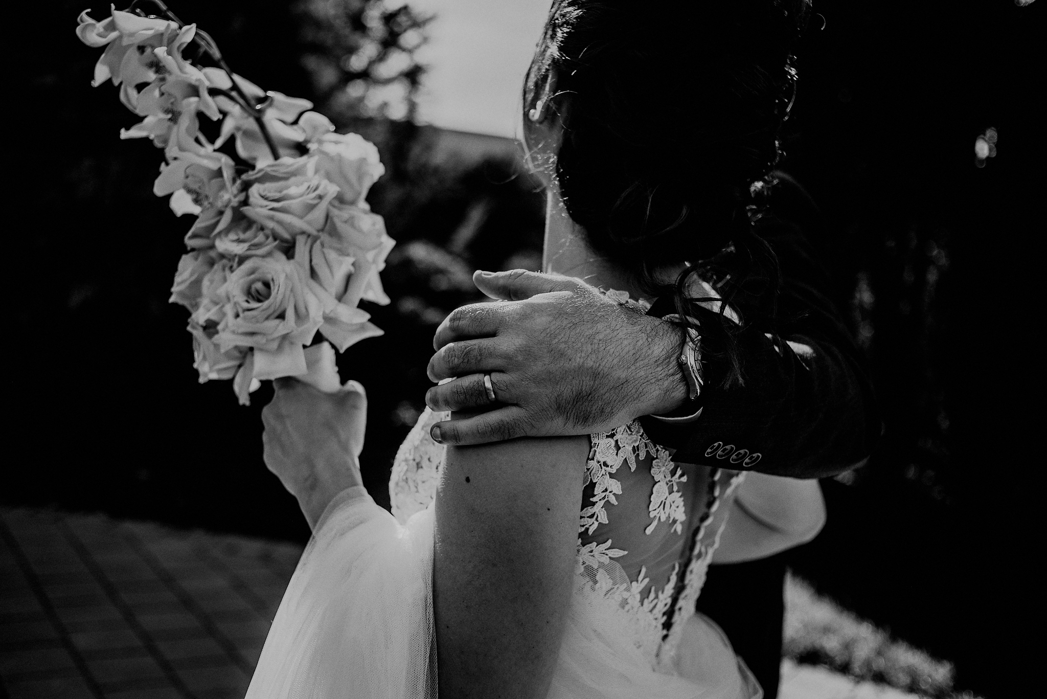black and white wedding photographs
