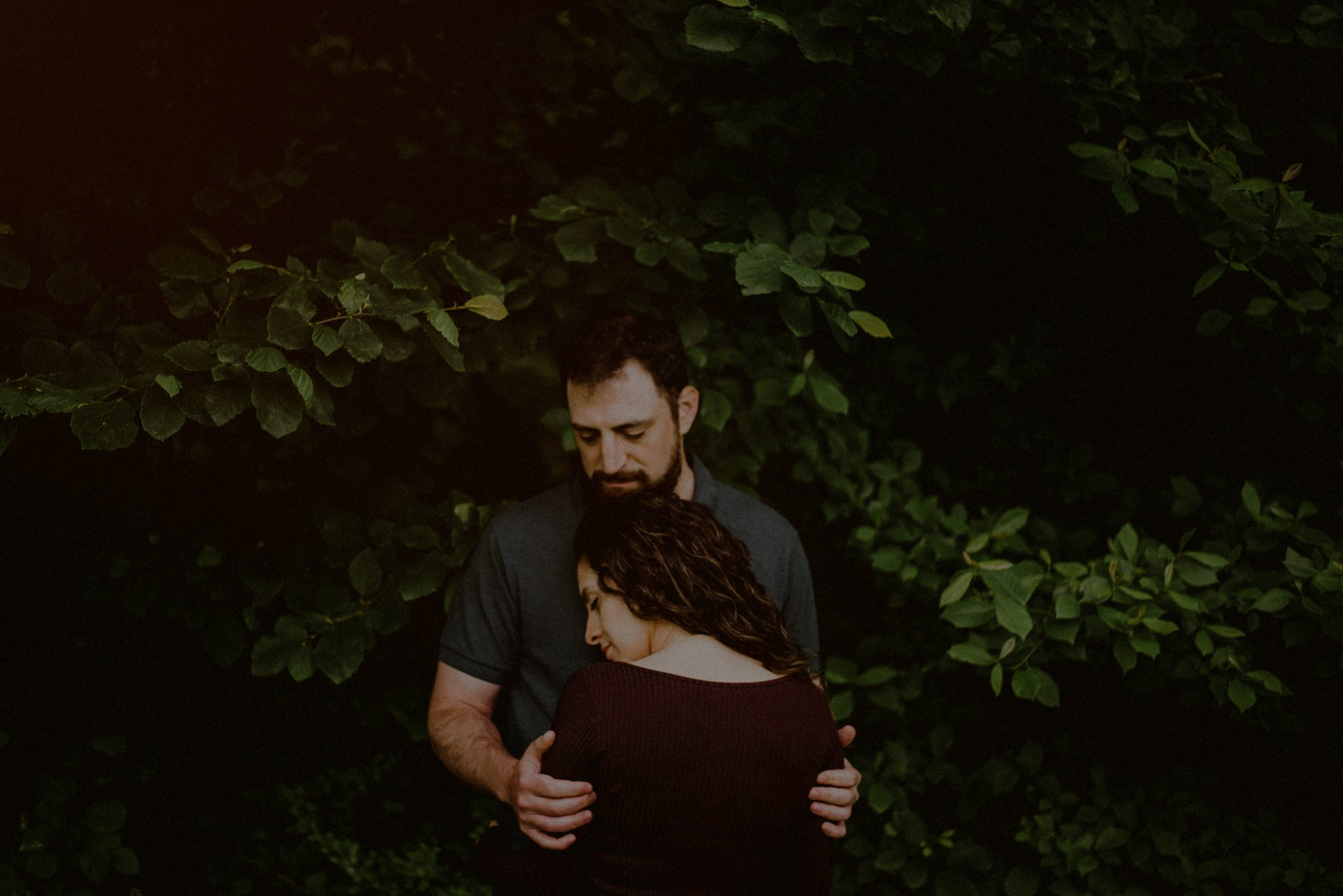 engagement session in the woods in nj