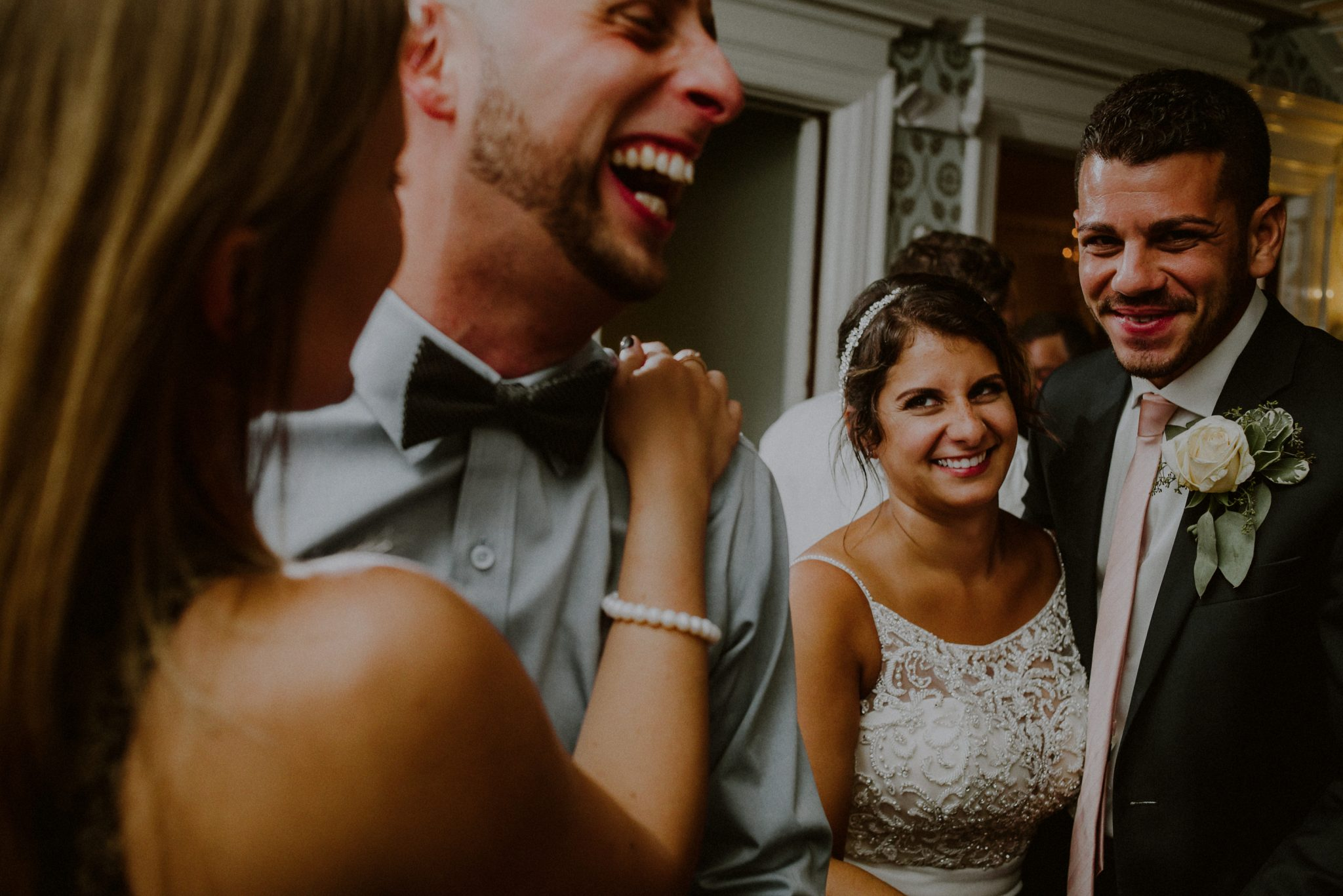 fun wedding reception photographer