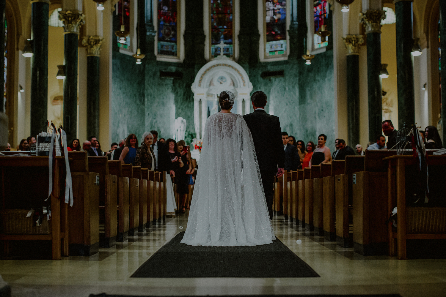 classic NYC church wedding
