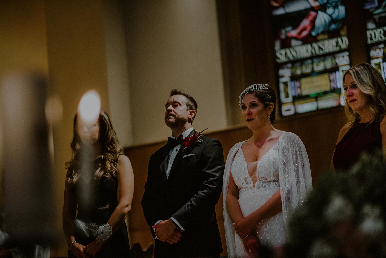 classic NYC church wedding