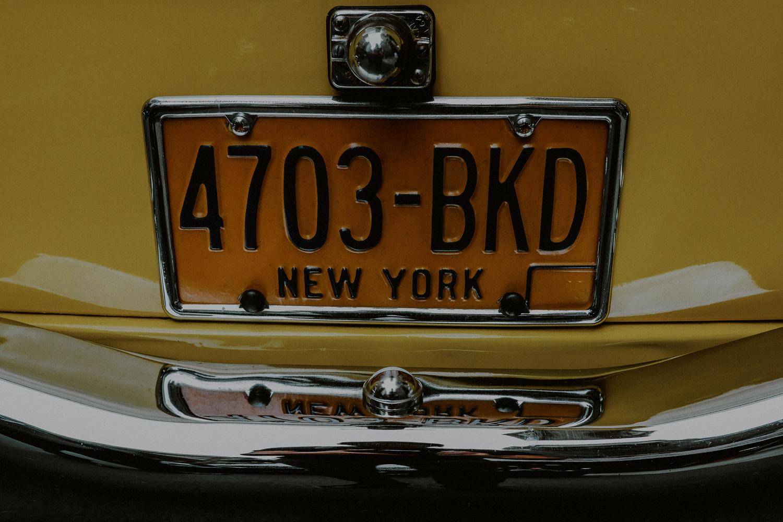 old-school nyc taxi