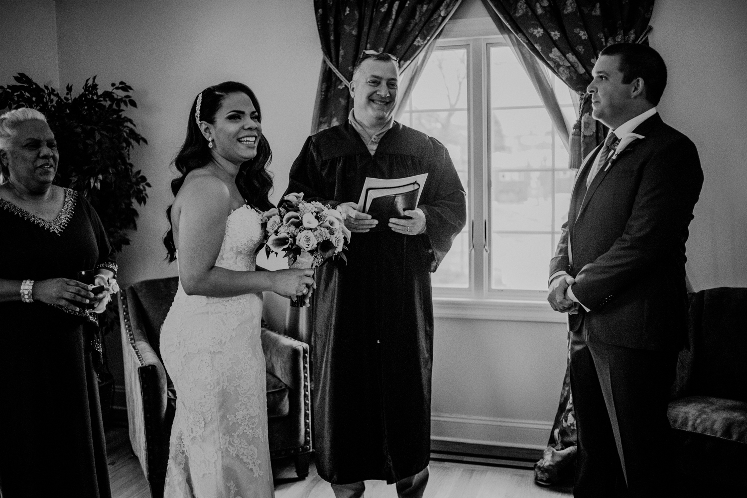 at-home wedding ceremony