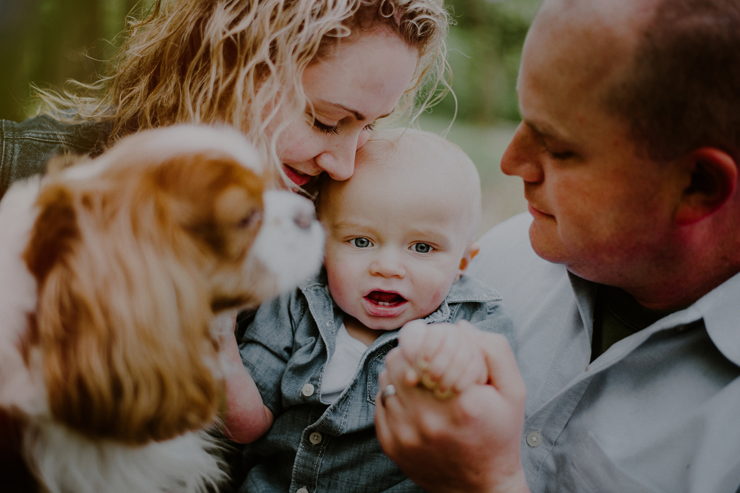 first birthday photos with family