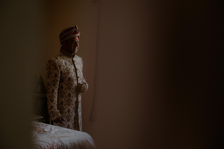 indian wedding photos of groom in indian groom attire