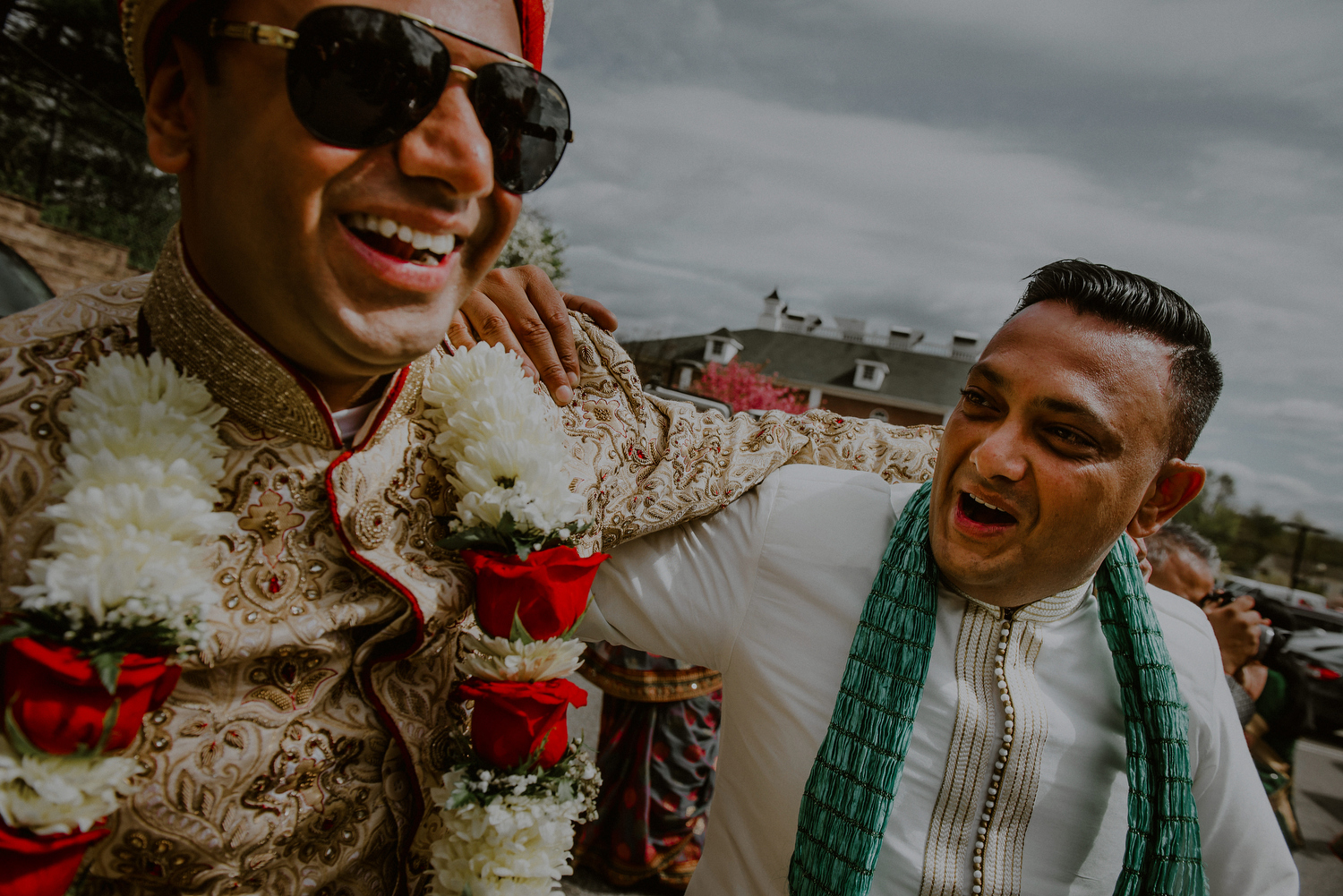 joyful baraat celebration during indian wedding