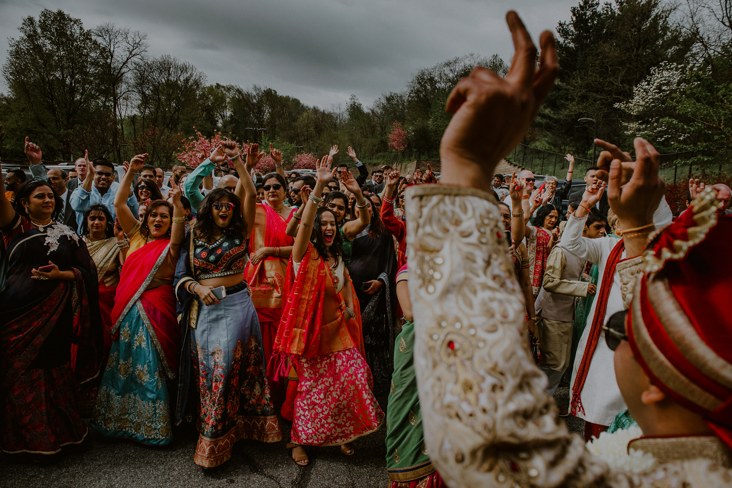 joyful and colorful baraat celebration before indian ceremony
