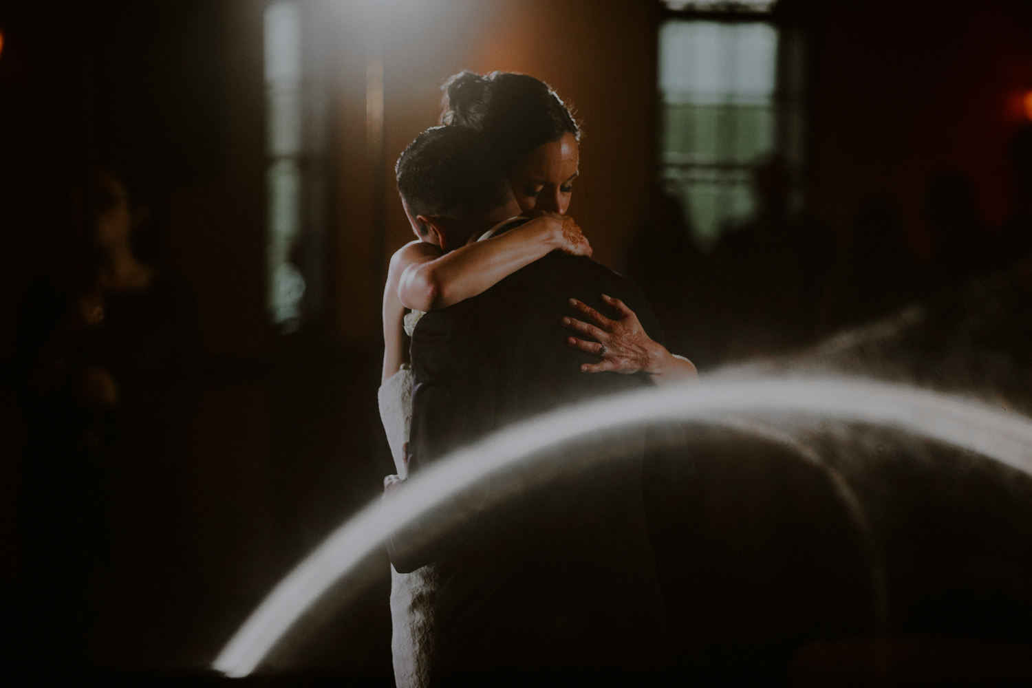 creative photo of bride and groom emotional first dance