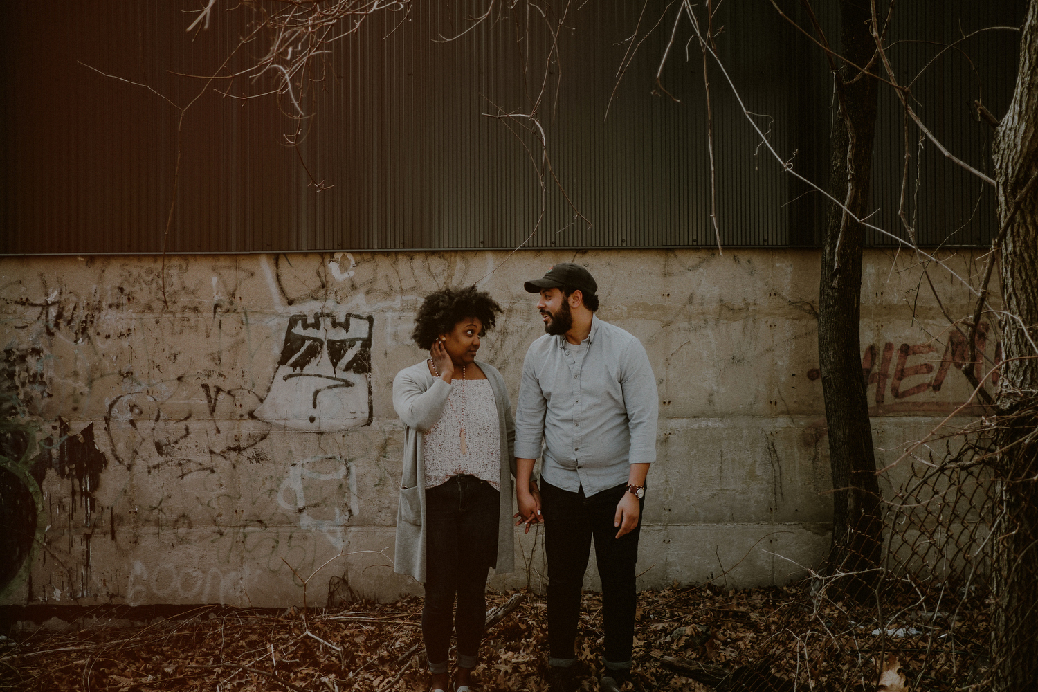 quirky engagement photos in queens ny