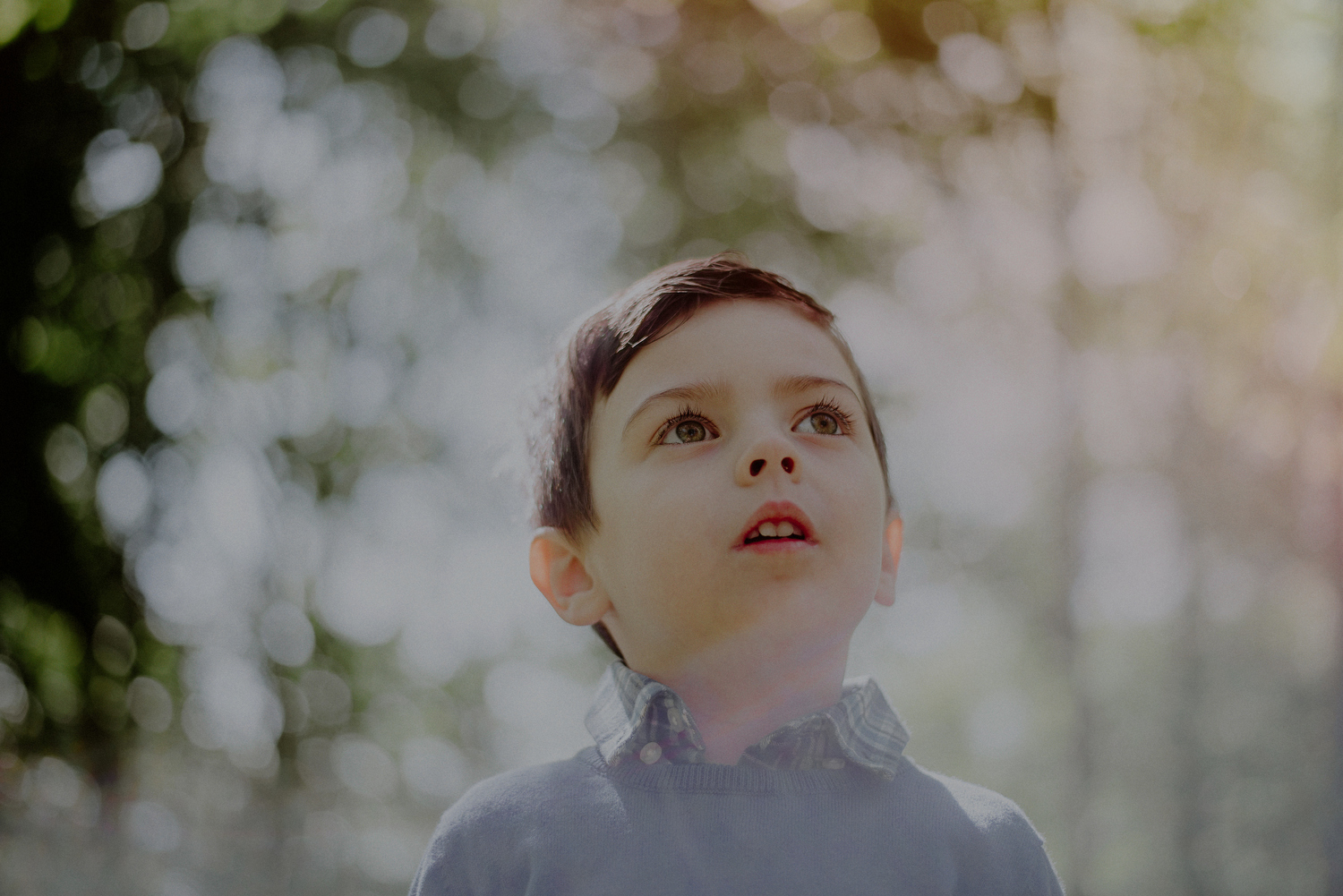 creative photo of boy in sunlight