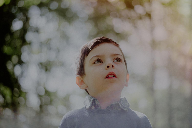 creative photo of boy in sunlight