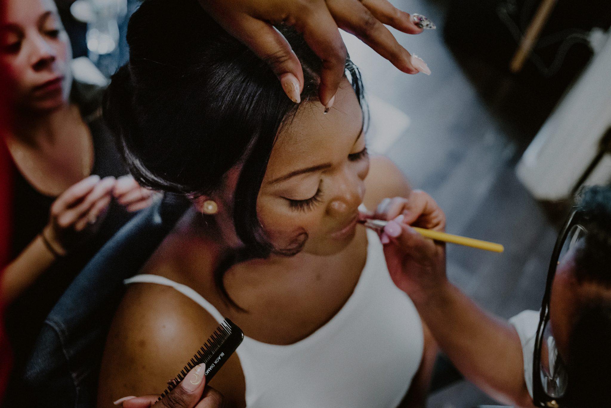 creative photo of bridal makeup