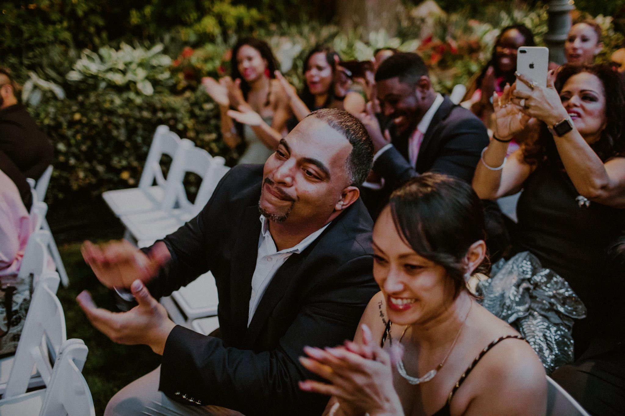 candid photography of wedding ceremony in woodbury ny