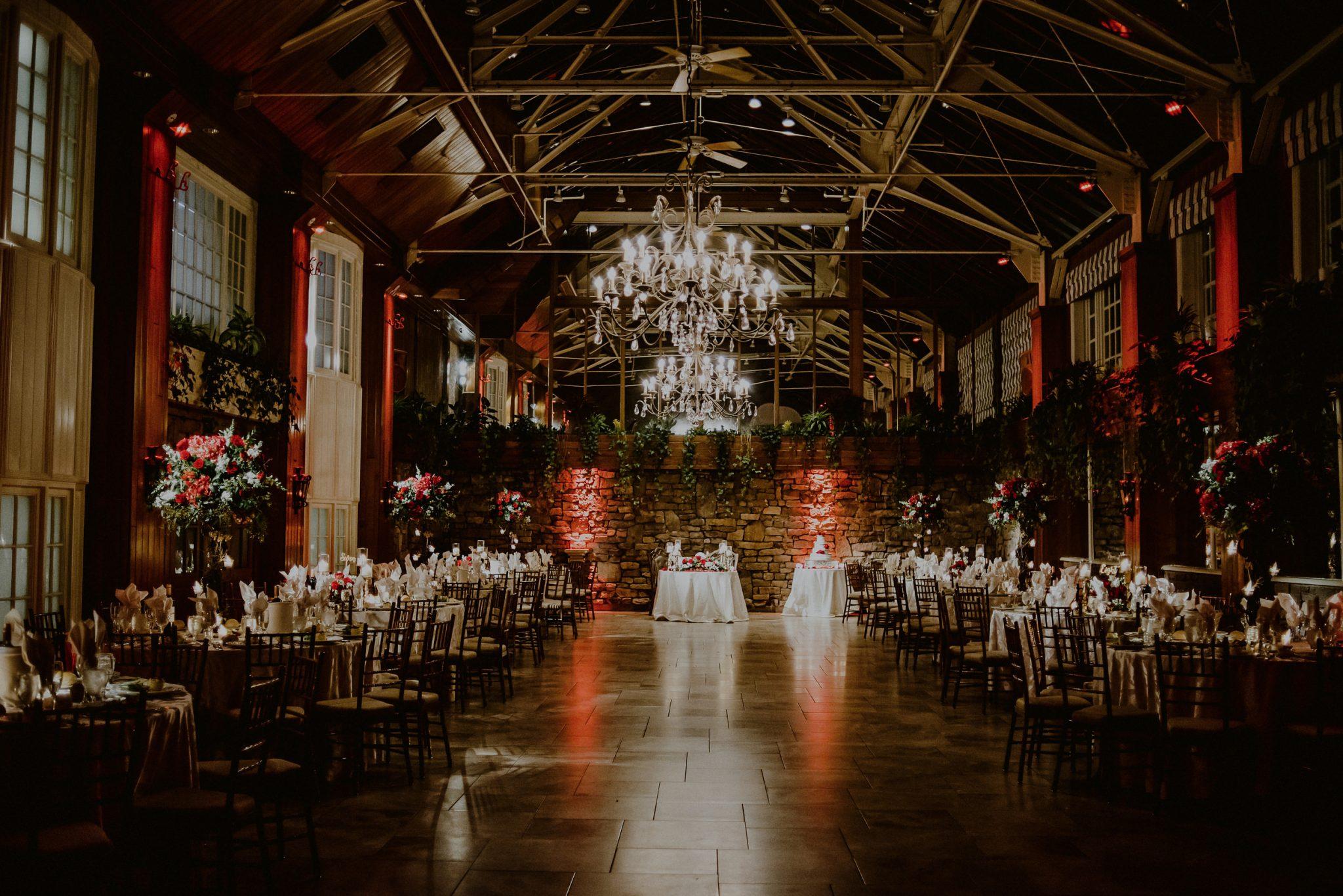 fox hollow wedding reception room decor