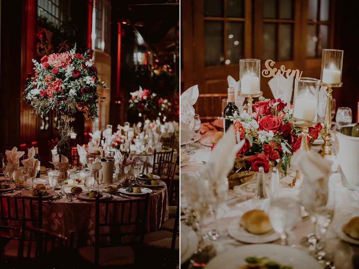 fox hollow wedding reception room details