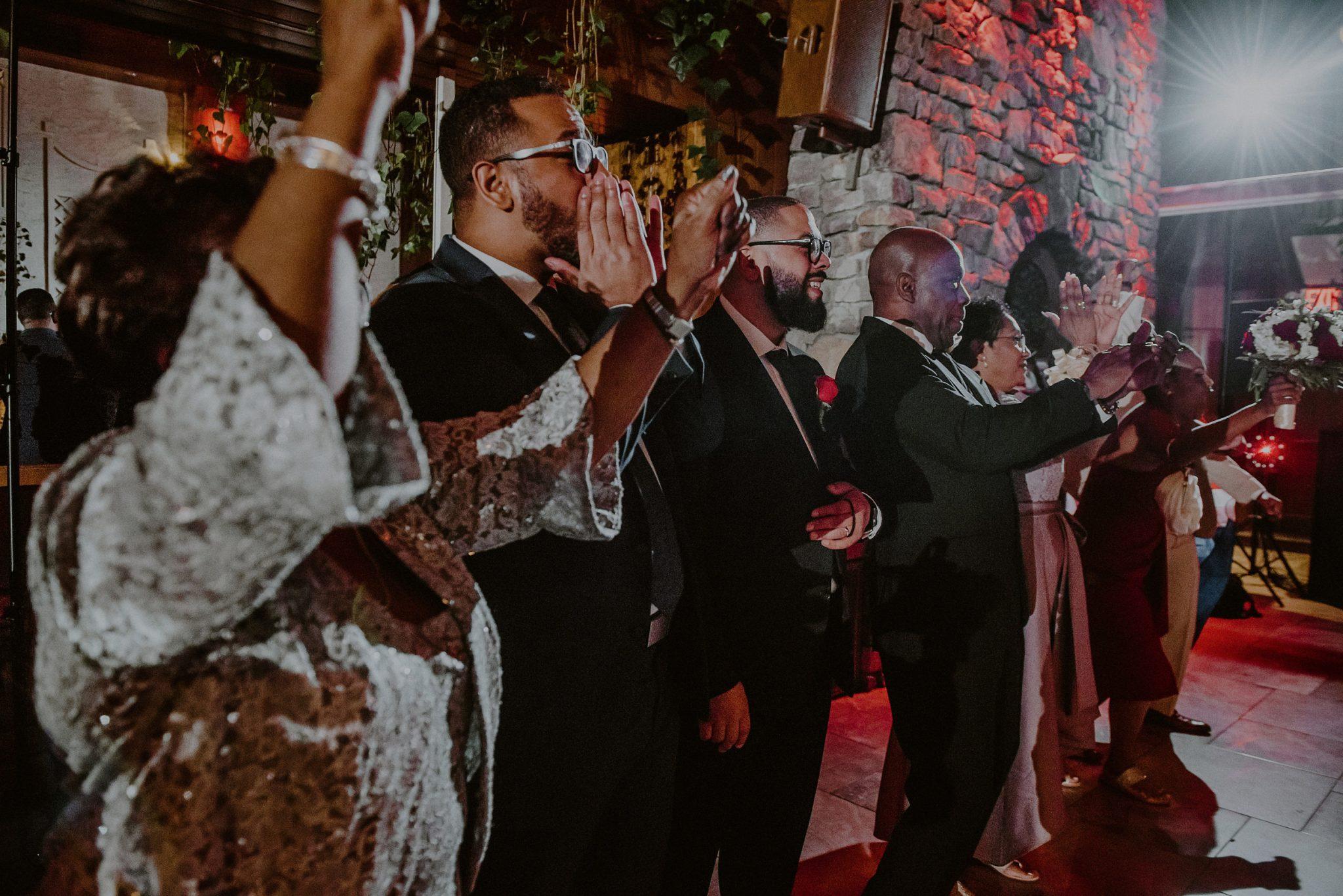 bridal party reception entrance