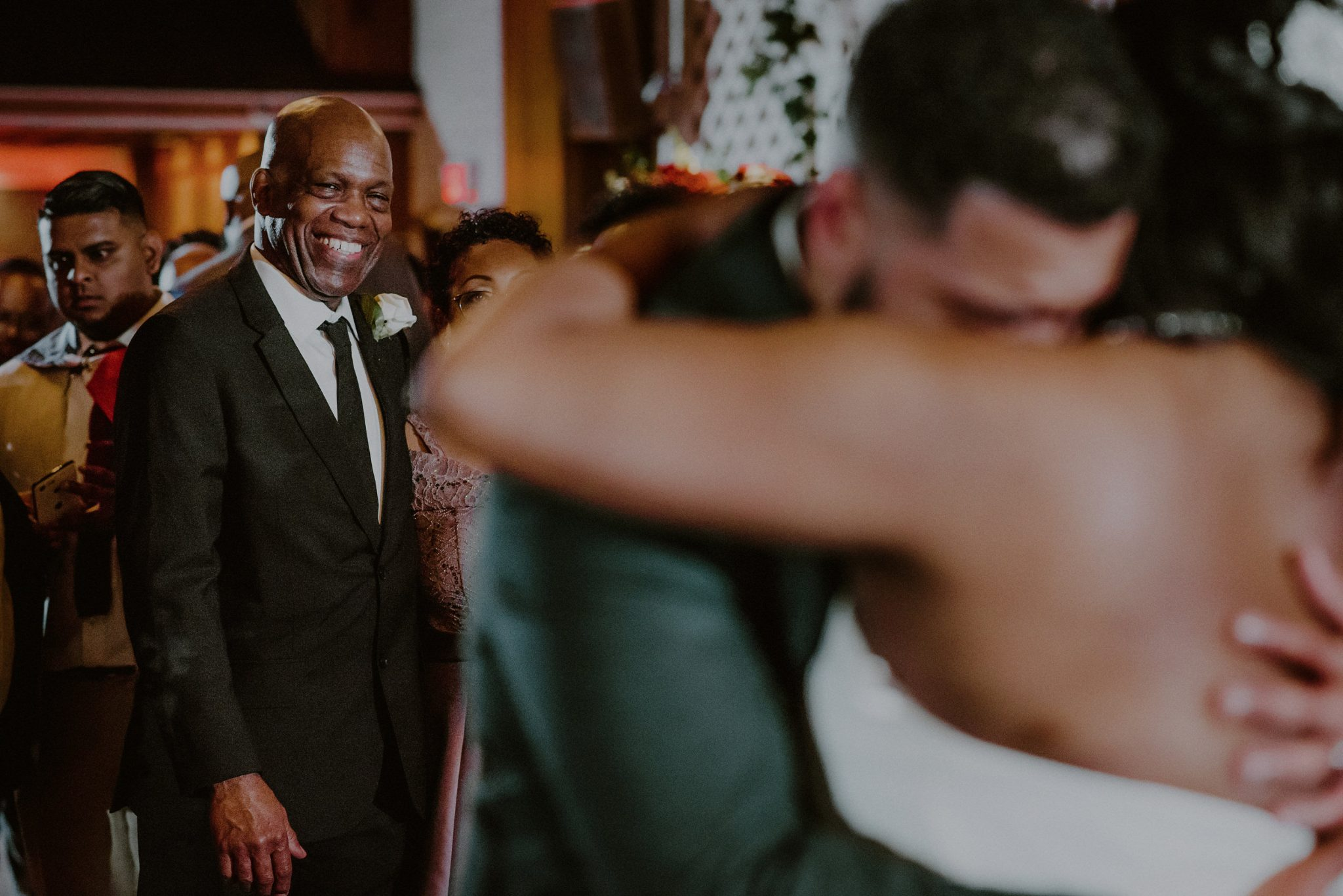bride's father watches first dance at fox hollow wedding event