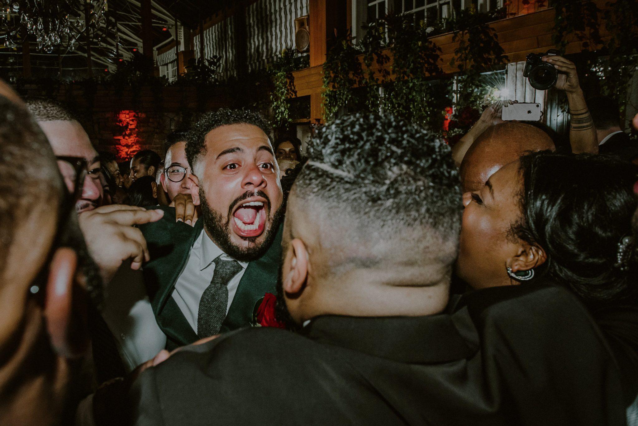 candid wedding reception moments at ny wedding