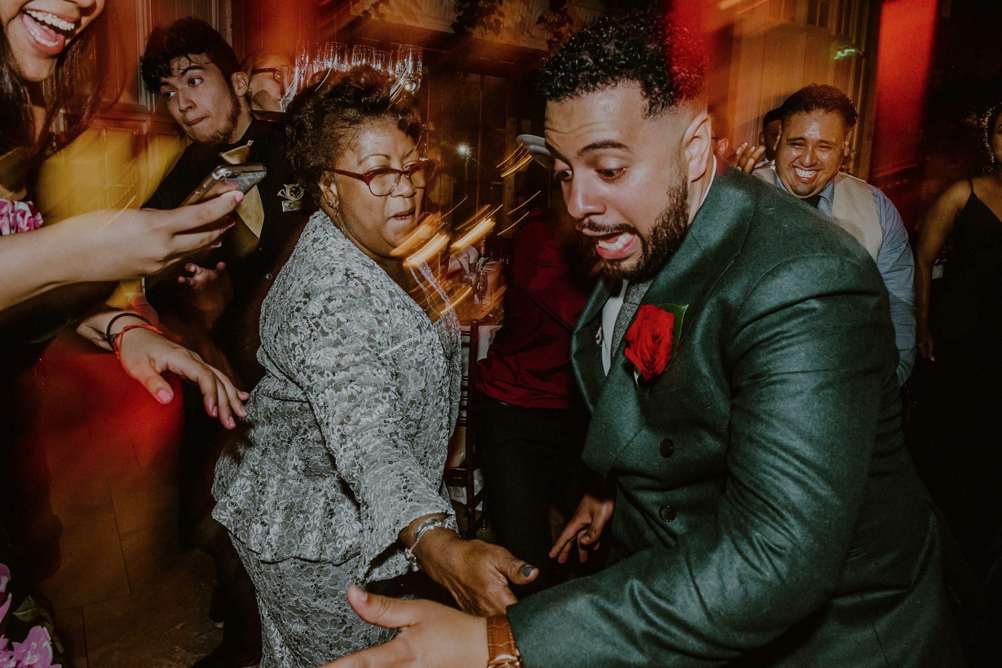 fun wedding reception moments on dance floor at new york wedding
