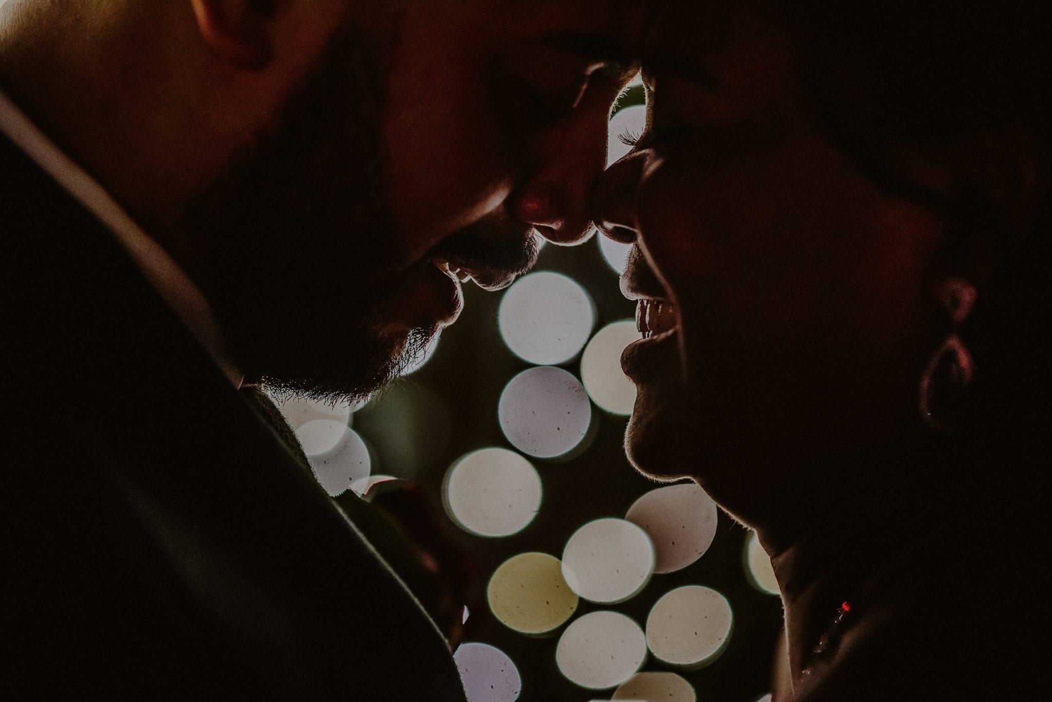 fox hollow wedding creative bride and groom night photo