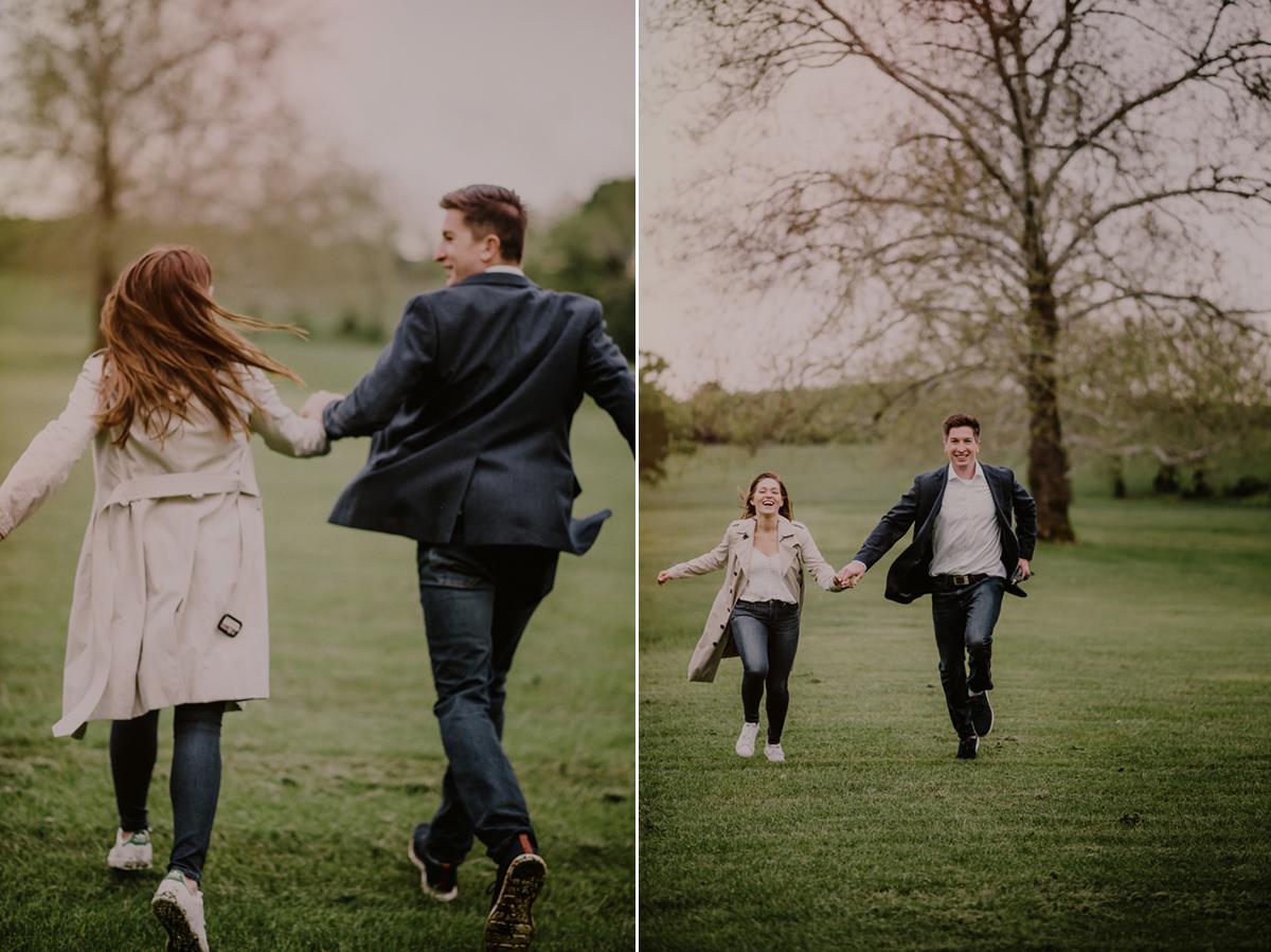 happy couple in field in nj