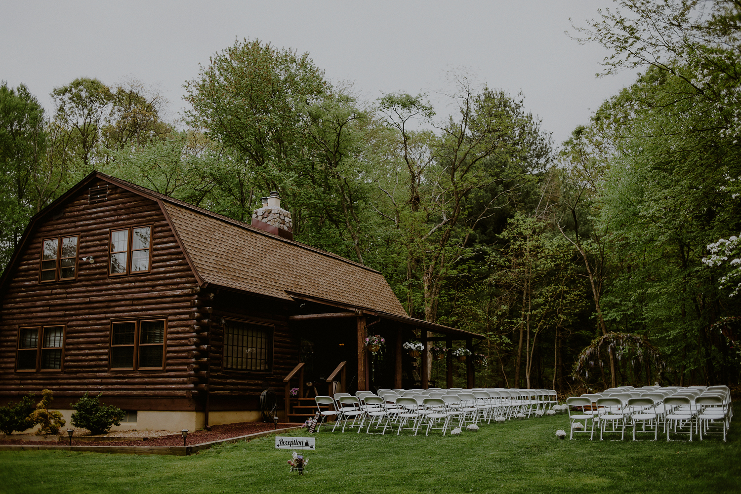 NJ backyard wedding ceremony space in central nj
