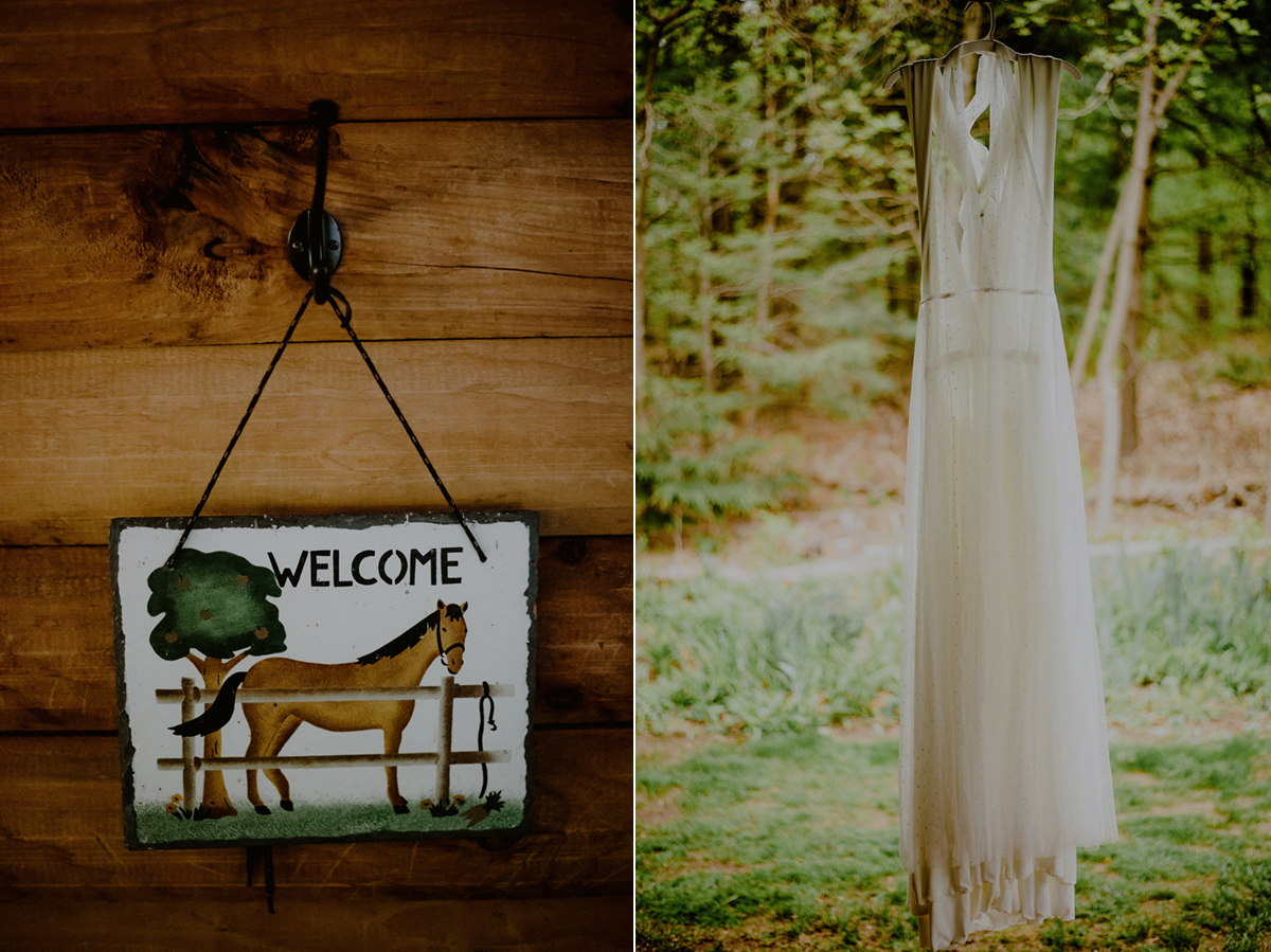 log cabin nj backyard wedding details in trenton nj